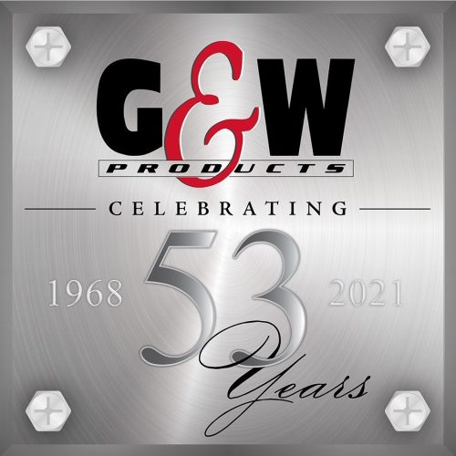 g and w 53 years logo